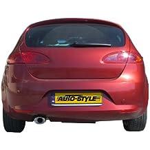 InoXcar Sele.12. SB Sport de–Silenciador trasero de acero inoxidable para Seat Leon 1P 2.0Tdi (140PS), a partir de BJ. 2005, 120x 80mm, abgeschrägt