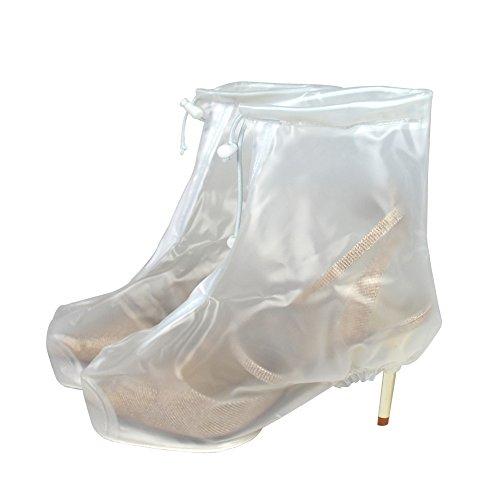 Wiederverwendbar, Transparent, wasserfest, Regen, Schnee, Schutzabdeckung, rutschfest, Damen, Herren, Jungen und Mädchen High Heel-Schuhs Abdeckungen (Jungen High-schnee-stiefel)