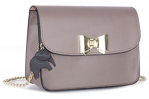 Big Handbag Shop - Borsa a tracolla donna Deep Taupe