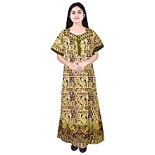 444f7ee5f7 Mudrika Pure Cotton Women Girls Nightwear Gown Multicolour Nighty (Free  Size)