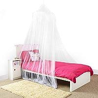 BALDAQUINO PARA PRINCESAS – Hermoso baldaquino blanco con lentejuelas plateadas para niñas – Accesorios para dormitorio de niñas de instalación rápida y fácil - El perfecto regalo para niñas, hijas y nietas.
