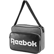 48872c563f Reebok Classic Royal Borsa A Tracolla, Colore Grigio, Dimensioni: 37 Cm X 27