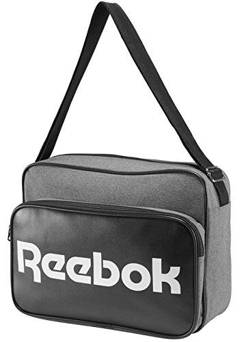 Reebook CL Royal Shoulder - Bolso unisex, color gris / blanco, talla única
