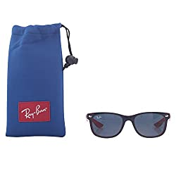 Ray-Ban UV Protected Square Unisex Sunglasses - (0RJ9052S178/8047|47|Blue Color)