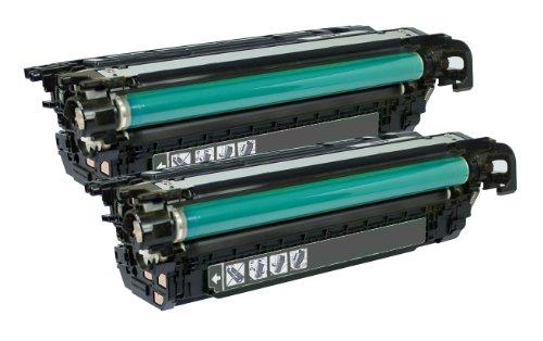 Merotoner - 2 Toner für HP CLJ CE-250X, CE250X, CP 3525 N, CP 3530 N, CP 3550 (Schwarz) (Ce252a Hp)