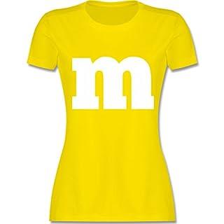 Karneval & Fasching - Gruppen-Kostüm m Aufdruck - XXL - Lemon Gelb - L191 - Damen T-Shirt Rundhals