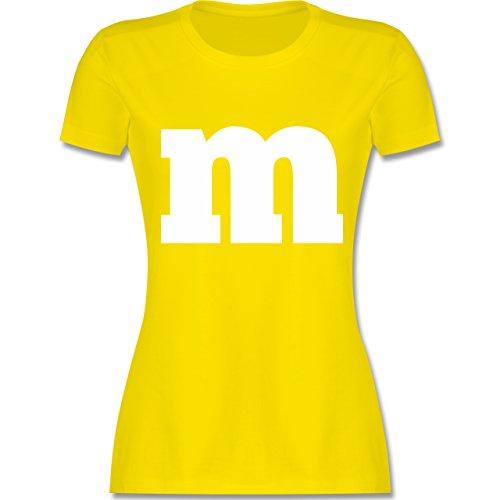 Themen Kostüm Gruppe - Karneval & Fasching - Gruppen-Kostüm m Aufdruck - M - Lemon Gelb - L191 - Damen Tshirt und Frauen T-Shirt