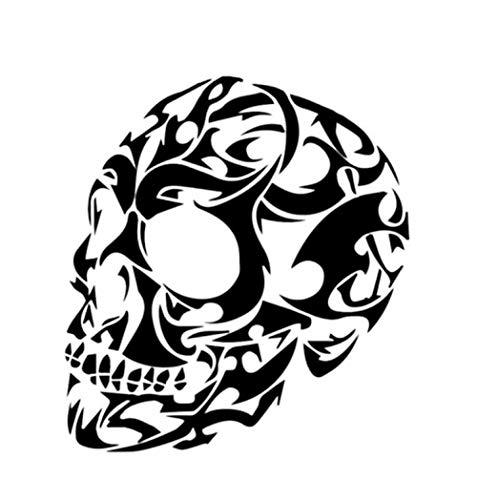 er 12,8 * 14 CM Coolste Halloween Horror Ghost Face Schädel Decor Auto Aufkleber Silhouette Stoßstange Fenster Vinyl 2 Stück ()