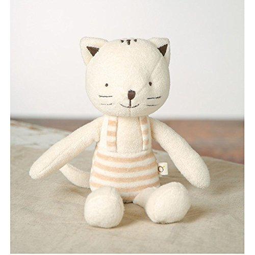 Preisvergleich Produktbild [Jisam Trade] Bio Stofftiere Plüsch Spielzeug für Babys Stoffpuppe 100% Baumwolle Baby Cat Coco & Geschenk (Jisam Trade)