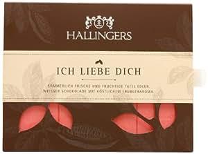 Hallingers Tafel Ich liebe Dich Weiße Schokolade 90g, 2er Pack (2 x 90 g)