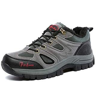 Qianliuk Couple Hiking Shoes Women Outdoor Fur Warm Trekking Tourism Sneakers Antiskid Autumn Winter Men Sport Shoes