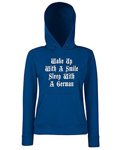 T-Shirtshock - Sweats a capuche Femme OLDENG00371 wake up Bleu Navy