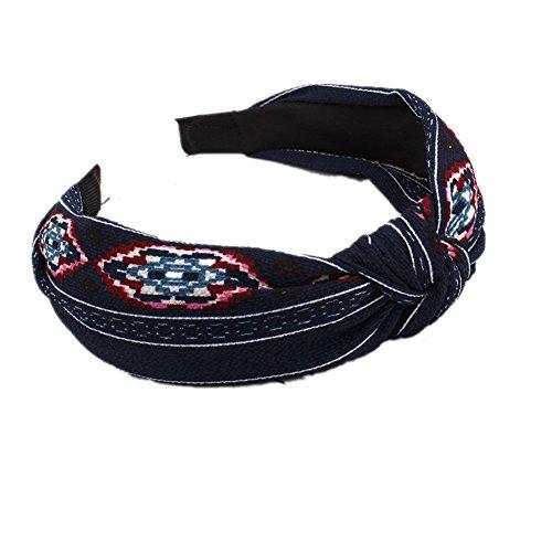 Bigboba hairbands vintage floreale stampato twisted elastico fasce fasce per donne e ragazze accessori per capelli, panno, lct00281a, width 3.0cm