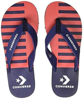 Converse Men's Red/Navy Flip-Flops-7 UK/India (40 EU) (CONVAW18FF02-A01)