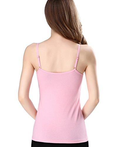 NINGMI Femme Soutien-Gorge D'allaitement Tank Top Camisole Sommeil Rose(1Pack)