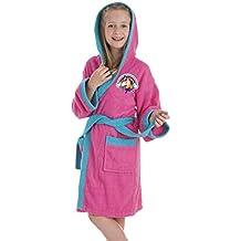 Secaneta - Albornoz Infantil para niña. Bata de baño Chica con Dibujos Bordados. Unicornio