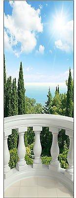 Stickersnews adesivo di trompe l' oeil balcone rif 622(4taglie a scelta), 73x204cm