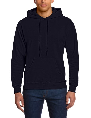 Fruit of the Loom Men's Hooded Pullover Sweatshirt, Deep Navy, Small (Brand Size: 44/46)