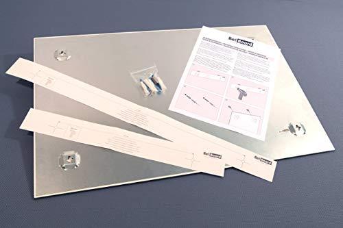 Be!Board B1300 Pizarra de cristal magnética / Tablero de notas magnético en vidrio, blanco, 90 x 60 cm