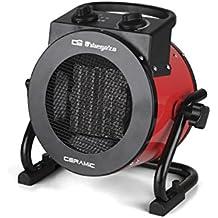 Orbegozo FHR 2050 - Calefactor cerámico profesional, 2000 W, 2 potencias de calor, protección contra sobrecalentamiento, apagado automático