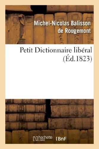 Petit Dictionnaire libéral