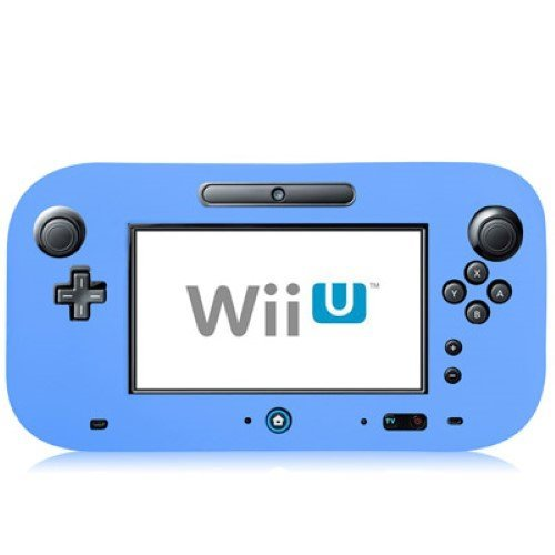 Preisvergleich Produktbild Nintendo Wii U Gamepad Silikon Case Flexibel Matt Schutz Hülle Cover Blau