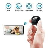 Mini Spy Cameras Hidden, WiFi 1080P Home Indoor Wireless IP Security Cam HD