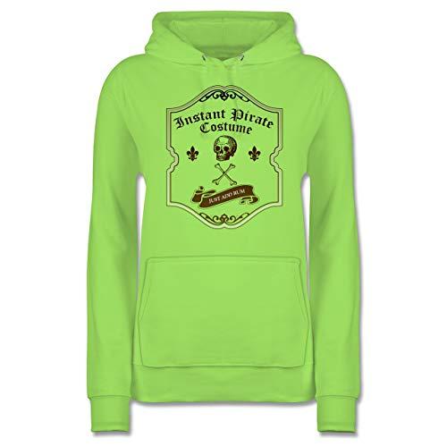 Shirtracer Piraten & Totenkopf - Instant Pirate Costume - Just add Rum - XXL - Limonengrün - JH001F - Damen ()