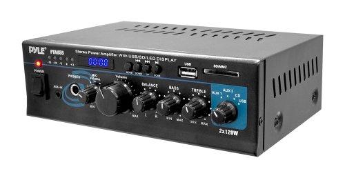 Pyle PTAU55 2.0 Hogar Alámbrico Negro - Amplificador de audio (2.0 canales, 240 W, RCA, 110-220, 210 mm, 136,9 mm)
