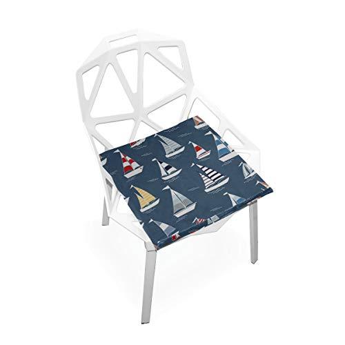 Enhusk Bootsschiff Fluss Ozean Transport Benutzerdefinierte Weiche Rutschfeste Quadratische Memory Foam Chair Pads Kissen Sitz Für Home Kitchen Esszimmer Büro Schreibtisch Möbel Innen 16x16 Zoll -