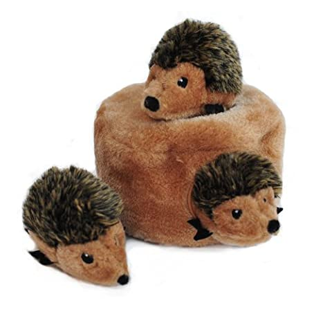 ZippyPaws Burrow Squeaky Hide and Seek Plush Dog Toy, Hedgehog Den by ZippyPaws