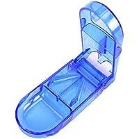 Preisvergleich für Pillendose mit getrennten Fächern, zum Sortieren verschiedener Tabletten, mit Schneide zum Teilen von Tabletten...