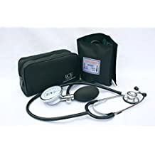 Aneroid Sphygmomanometer - with 1 Adult Cuff and Black Stethoscope - Blood Pressure Monitor Kit by