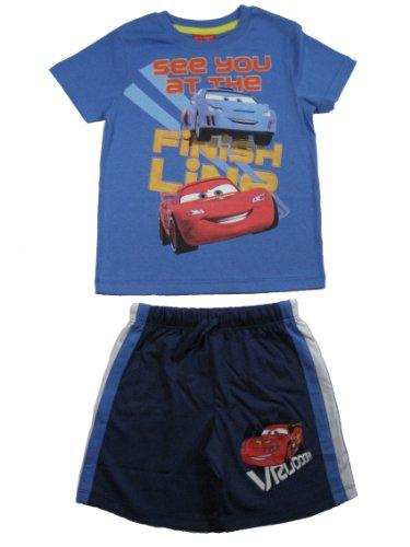 Preisvergleich Produktbild Disney cars T-Shirt kurze Hose Shorts blau (73866),  Gr. 98
