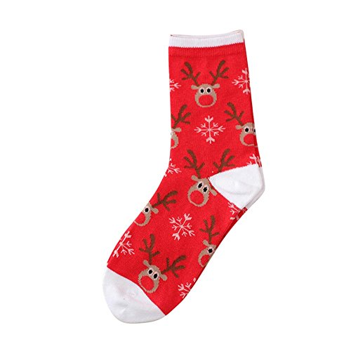OverDose Damen Frauen Und Männer Unisex Weihnachten Komfortable Streifen Baumwolle Party Home Täglich Cosplay Geschenk Socke Kurze Söckchen