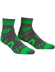 Compressport Pro Racing V2 Trail Hi, Calcetines, color Gris/Verde, talla 46/48 EU (Tamaño Fabricante: T5)