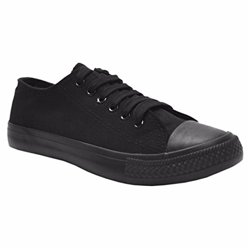 MyShoeStore® LADIES CANVAS SHOES WOMENS GIRLS SHOES CASUAL LACE UP RETRO  PLIMSOLLS PLIMSOLES LOW TOP bead4b8f513