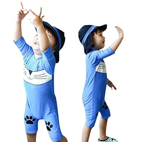 Heetey Mädchen-Schwimmkostüm, Kid Baby Girl Boy Cartoon Kätzchen Reißverschluss Boxer Beachwear 3D Cartoon One Piece Beach Bademode Badeanzug Badesachen -