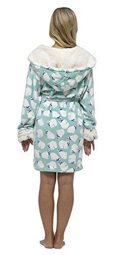 KrishWear - Robe de chambre - Femme Menthe
