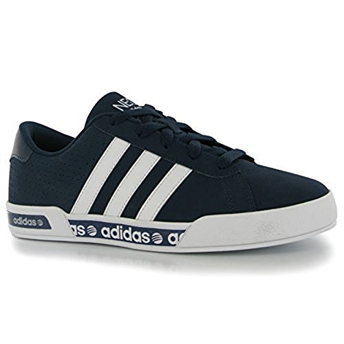 adidas Kids Daily Mono Childrens Trainers Sports Shoes Lace Up Marine/White UK...