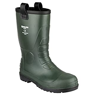 Footsure 97 PVC Rigger Safety Wellingtons Green Green Size 7