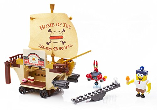 Image of Mega Bloks Toy - SpongeBob Square Pants - Burgermobile Showdown Playset - 258 Pieces