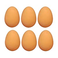 6x Bolas de goma hinchable huevos–huevos falsos de Henbrandt