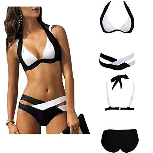 QUICKLYLY Bikini/Tankini Mujer 2018-2019 Push up brasileño Talla Grande Cintura Alta Sexy Conjunto...