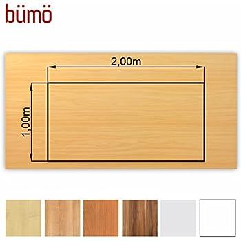 tischplatte 200 x 100 x 2 5 cm dekor ahorn melaminharzbeschichtet b robedarf. Black Bedroom Furniture Sets. Home Design Ideas