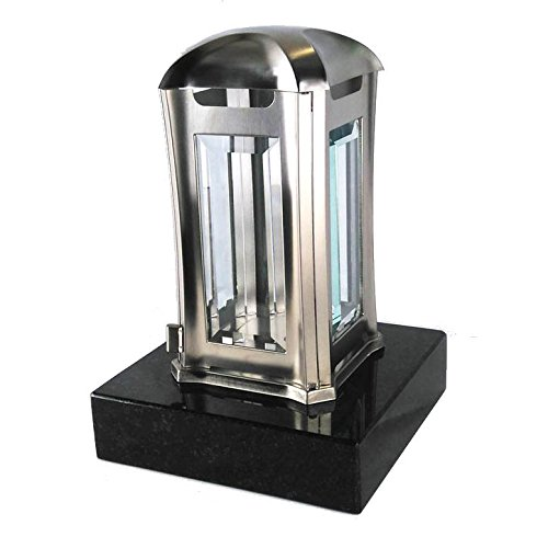 designgrab ael5agb 1swed Lampe tombale Venezia en acier inoxydable, argent, 13 x 13 x 24 cm