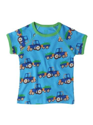 dc4d203027bf7 Ej Sikke Lej Baby - Jungen Hemd, All over Druck 131184 Tractor, T-Shirt  S/S, Gr. 80, Türkis (Turquoise)