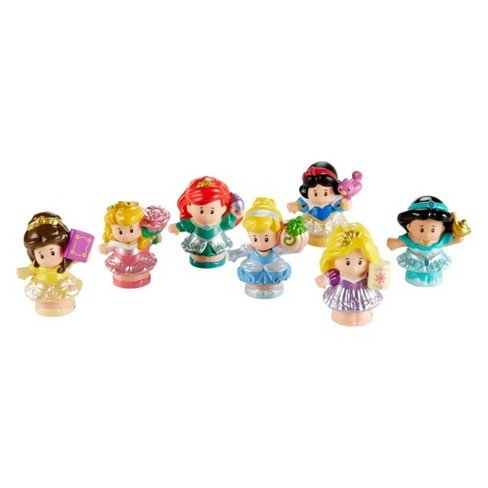 People Disney Prinzessinnen Figuren Set - 7 Prinzessinnen von Little People (Disney Prinzessin Baby)