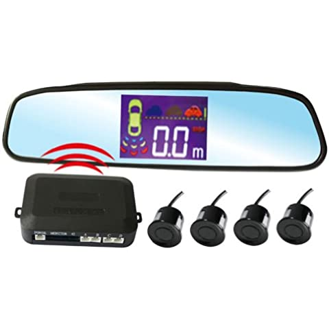 KIPTOP pz502 W de radio de cristal líquido de radar estacionamiento asistido de sensores de alarma con el número 4