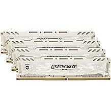 Ballistix Sport LT 16GB Kit (4GBx4) DDR4 2400 MT/s (PC4-19200) DIMM 288-Pin Memory - BLS4C4G4D240FSC (White)